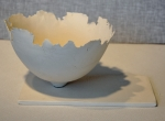 White Bowl w/ White Tray--sold