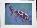Swimming Turtle - sold
