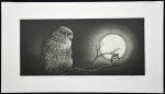 Blakiston's Fish Owl & Horned Owl - sold
