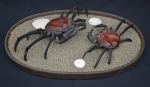 Bronze Crabs with Bronze Dish